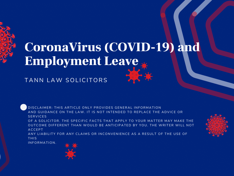 CoronaVirus (COVID-19) and Employment Leave