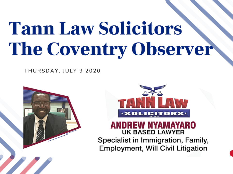 Coventry Observer Tann Law Article