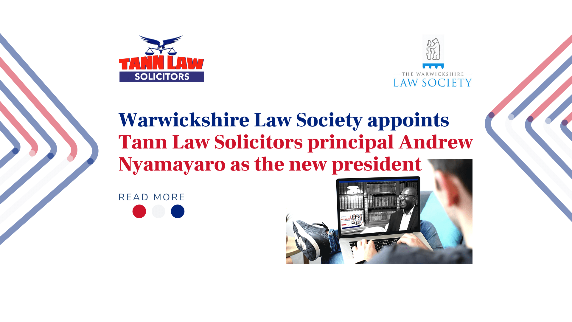 Tann Law Warwickshire Law Society principal Andrew Nyamayaro president